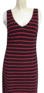 Banana Republic short dress Red and navy stripe on Tradesy