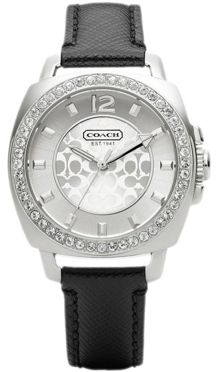 Preload https://item2.tradesy.com/images/coach-black-boyfriend-14501789-leather-signature-glitz-womens-watch-17213221-0-1.jpg?width=440&height=440