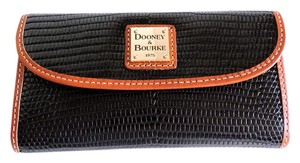 Dooney & Bourke Dooney & Bourke Black Lizard Embossed Leather Tri-fold Wallet NWT