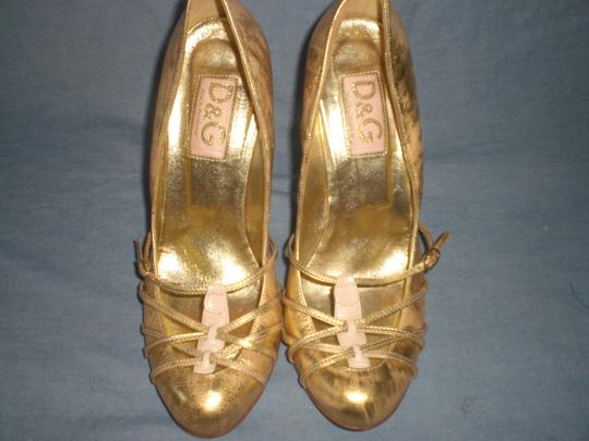 Dolce&Gabbana Couture GOLD Pumps Image 4