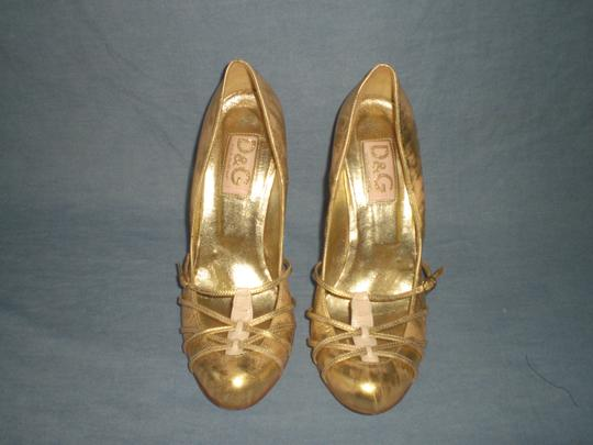 Dolce&Gabbana Couture GOLD Pumps Image 9
