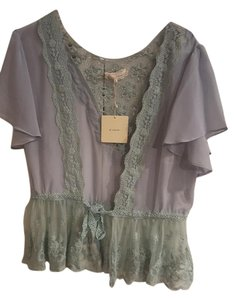 A'reve Bohemian Lace Top Green