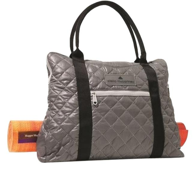 Item - Yoga Grey with Black Straps Poly Twill Exterior and Fabric Lining Shoulder Bag