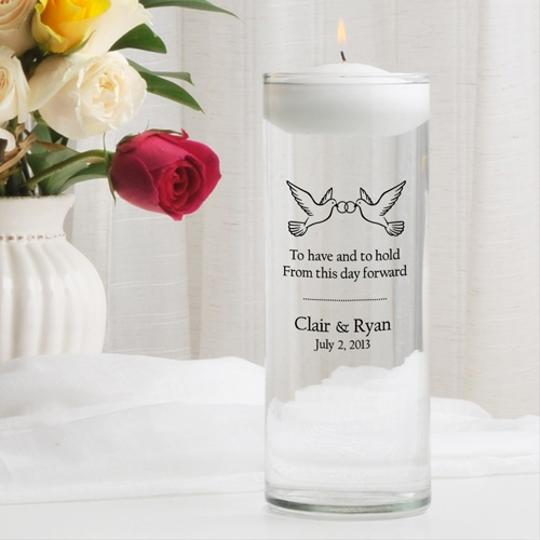 Personalized Floating - Various Designs Unity Candle