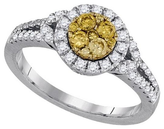 Other Luxury Designer 14k White Gold 0.84 Cttw Yellow Diamond Fashion Ring By BrianGdesigns