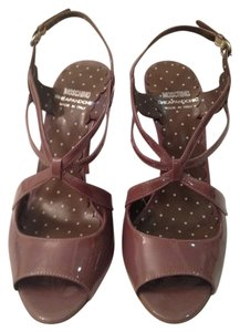 Moschino Strappy Patent Leather Lavender; Musky Light Purple Sandals