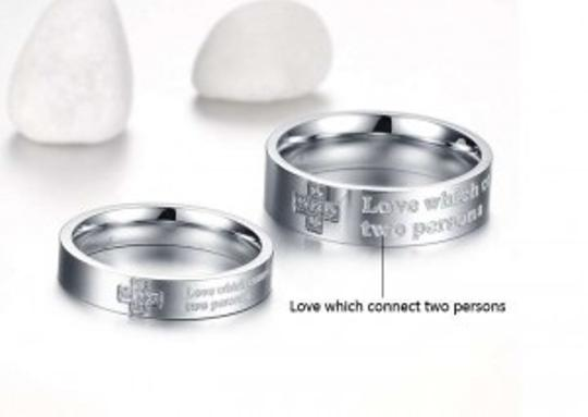 Silver Bogo Free 2pc Matching Couples Promise Ring Free Shipping Jewelry Set
