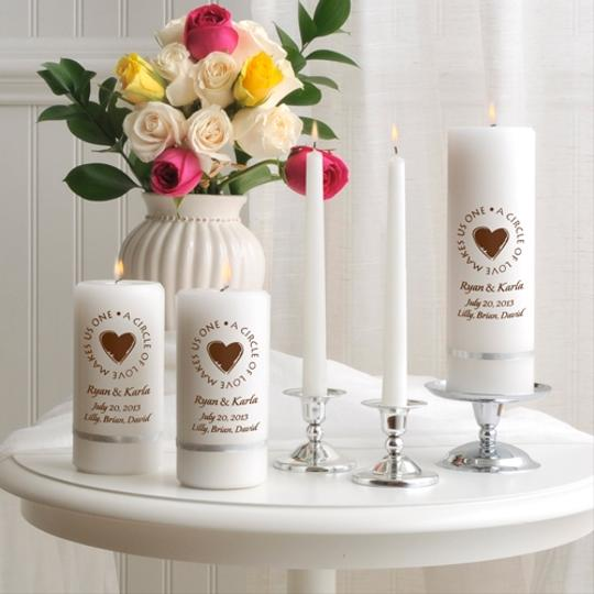 Personalized Second Marriage Unity Candle Set