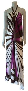 Purple White Maxi Dress by Nicole Miller