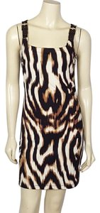 Boston Proper short dress black, brown and white Mini Sz 2 on Tradesy