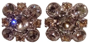 Chanel Chanel Earrings Crystal Cluster Baroque Square Silver Swarovski Stud Classic Timeless Mini Medium Jumbo 11V