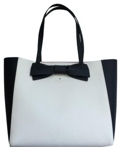 Kate Spade Blair Shoulder Satchels Tote in BLACK/WHITE
