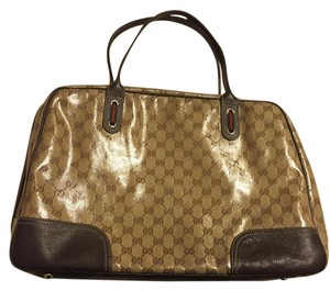 Gucci Crystal Coated Tote in brown/tan