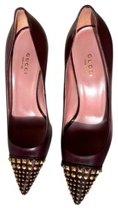 Gucci Heels Heels Studded Burgundy Pumps