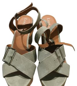 Anthropologie Grayish green Wedges