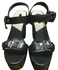 Zara Black Wedges