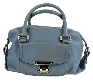 Marc Jacobs Calfskin Leather Silver Hardware Satchel in Blue
