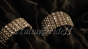 Silver 6 Row-bling Napkin Rings Reception Decoration