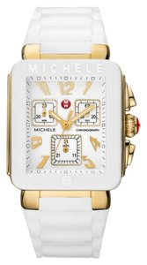 Michele BRAND NEW MICHELE JELLY BEAN PARK WHITE /GOLD watch MWW06L000013