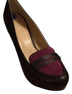 Nine West Dark brown and purpule Platforms
