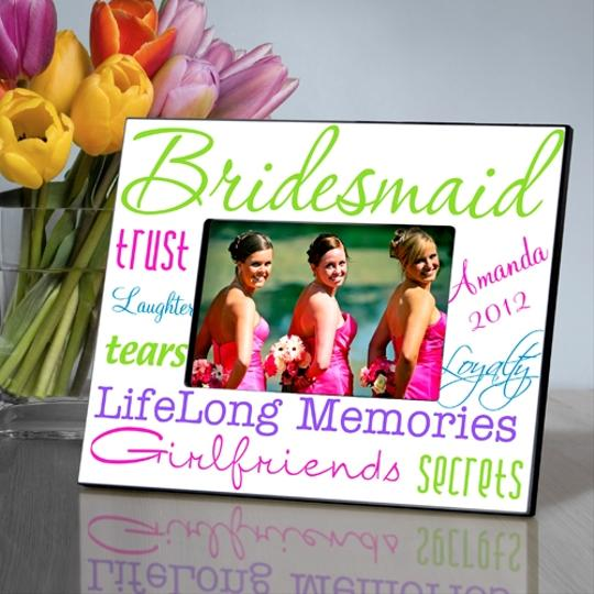 Multicolor Personalized Kaleidoscope Bridesmaid Picture Various Colors Photo Frame
