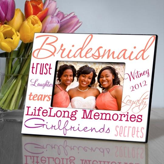 Personalized Kaleidoscope Bridesmaid Gift Picture Frame - Various Colors