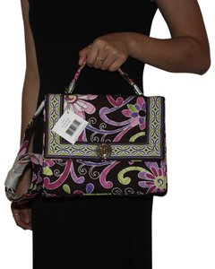 Vera Bradley Tote in Purple and Brown