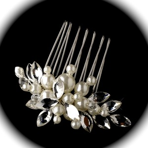 Bella Tiara Elegant Pearl And Crystal Wedding Hair Comb