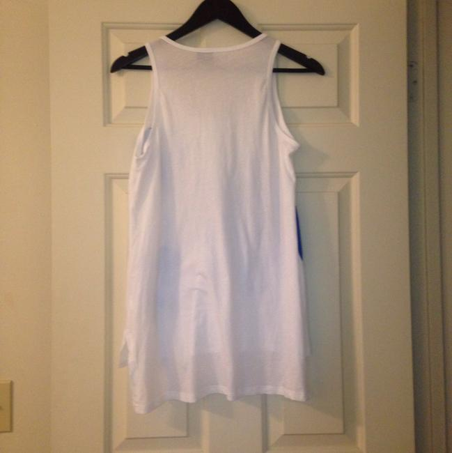 Anthropologie Applique Top White and Blue Image 4