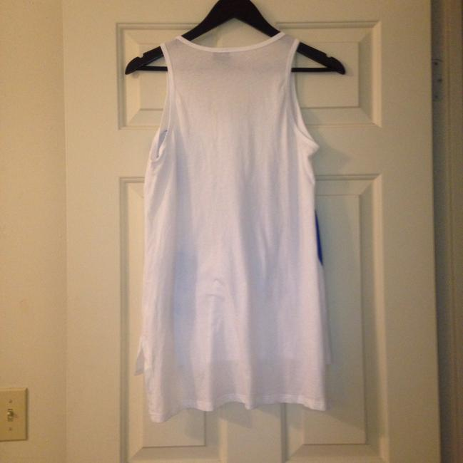 Anthropologie Applique Top White and Blue Image 9
