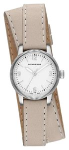 Burberry Burberry Women's The Utilitarian Tan Leather Silver Steel Watch BU7847