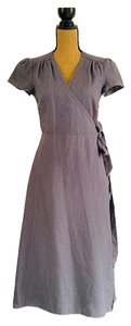 Gray Maxi Dress by Sundance Wrap Linen Maxi