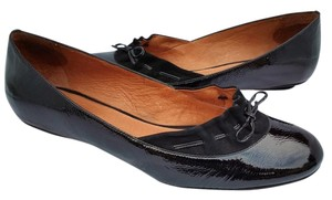 Ballasox by Corso Como Patent Leather Suede Bow Flats Black Formal
