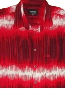 Versace Button Down Shirt Red and white