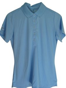 Nike Golf Womens Blue New Button Down Shirt Light Blue