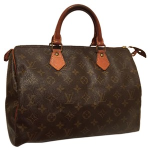 Louis Vuitton Leather Vintage Satchel in Brown