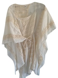 Jen's Pirate Booty Boho Bohemian White Cover Up Top Natural
