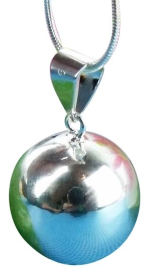 Preload https://item1.tradesy.com/images/silver-jingling-fairy-ball-charm-on-sterling-necklace-1721950-0-0.jpg?width=440&height=440