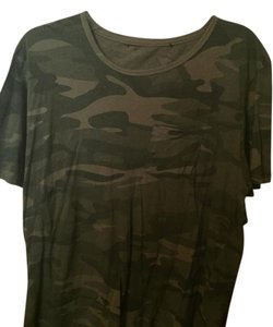 Adam Levine Collection T Shirt Camouflage Green