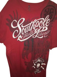 South Pole Collection T Shirt Red/Black/White