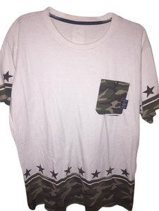 Other T Shirt White/Camoflouge Green