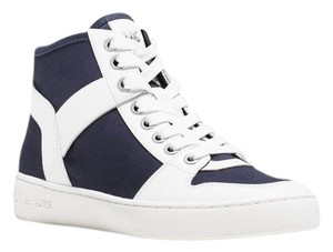 Michael Kors Navy White Sneakers High-tops Casual Athletic