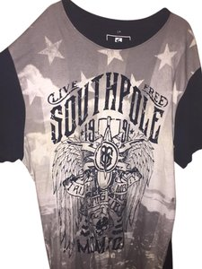 South Pole Collection T Shirt Black/Gray/White