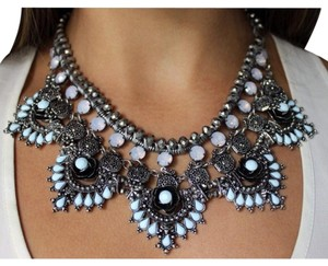 Zara Zara Bohemia Blue Statement Necklace