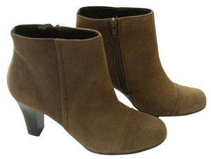 Aerosoles Faux Leather Suede Ankle Brown Boots