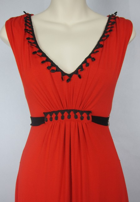 Eva Franco short dress red Romanctic Lace Embroidered Unique Anthropologie on Tradesy