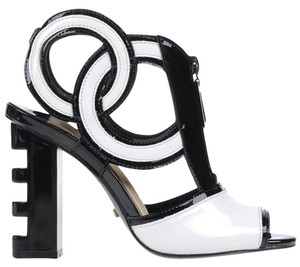 Kat Maconie White/Black Sandals