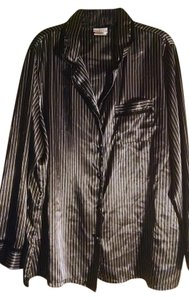 George T Shirt Black with white pinstripes