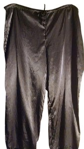 George Baggy Pants Black with white pinstripes