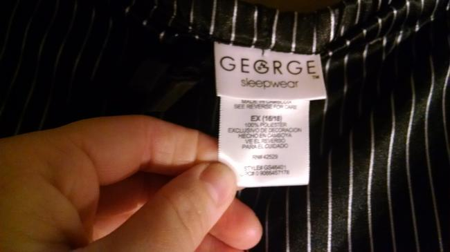 George Baggy Pants Black with white pinstripes Image 1